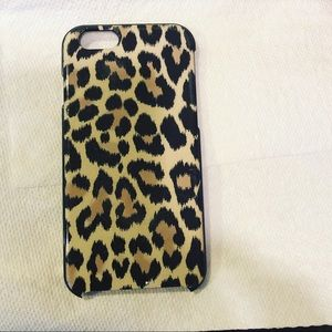 Kate spade iPhone case leopard